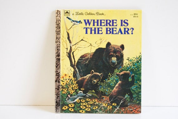 Vintage Little Golden Book Where is The Bear