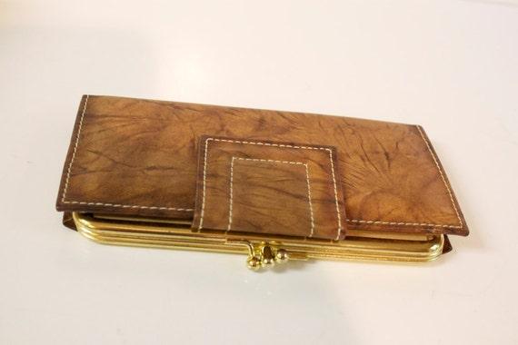 Vintage Brown Leather Wallet Belle Brummel UNUSED