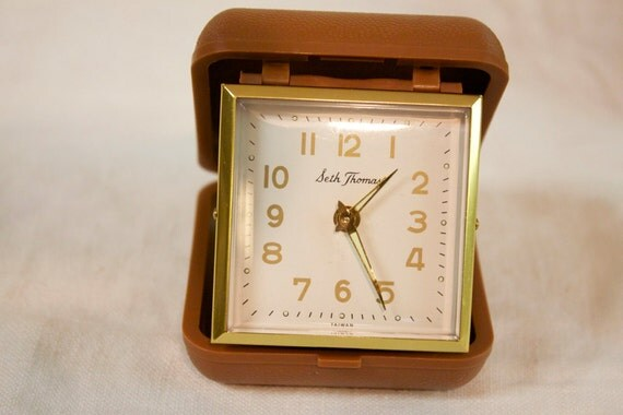 Vintage Folding Travel Alarm Clock