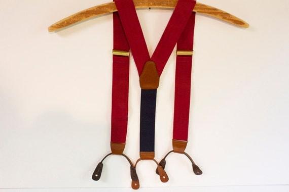 Vintage Red Mens Suspenders