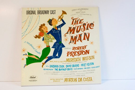 Vintage 1957 The Music Man Record Album