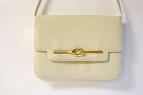 Reserved Vintage 1960s White Handbag by Paristyle