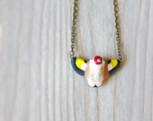 Goldfinch in flight necklace