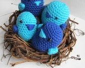 Amigurumi Love Birds Family - Custom Order for Meredith B