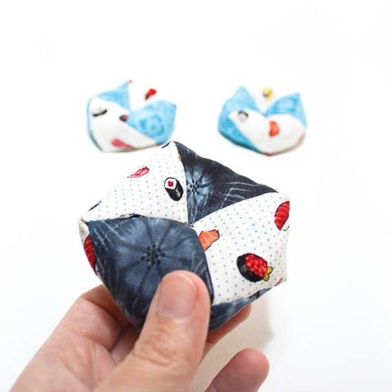 Otedama Game Set in Sushi and Turquoise Print  (Set of 3)