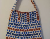 Pleated Purse - Blue Dots
