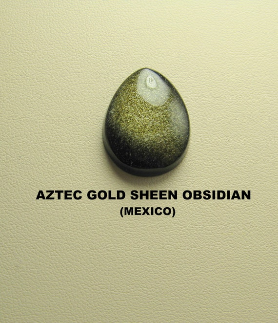 Aztec Gold Sheen Obsidian Designer Cabochon.