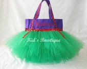 Monogrammed Tutu Bag - Personalized Tutu Tote - add to your Little Mermaid Ariel costume