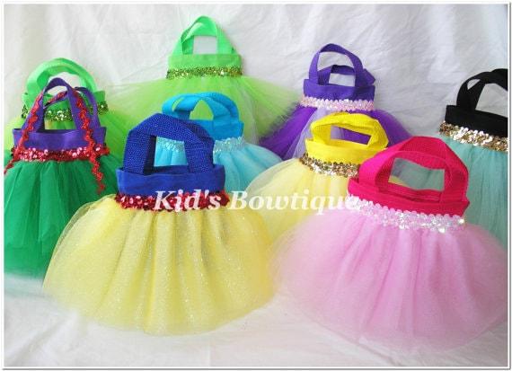 Set of 16 Disney Princesses Inspired Party Favor Tutu Bags