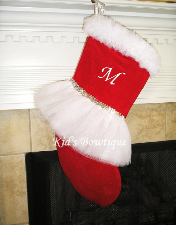Items Similar To White Tutu Christmas Stocking