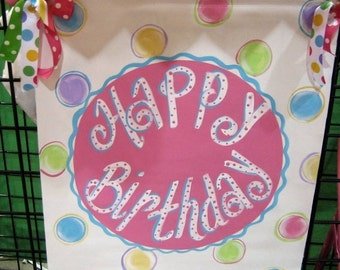 Hand painted Birthday Banner