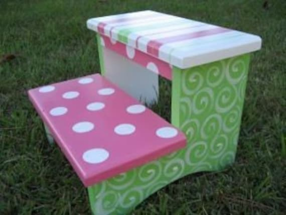 Kid S Hand Painted Step Stool