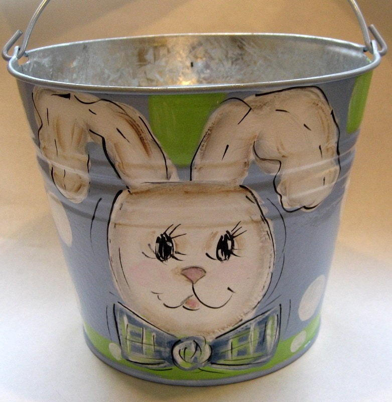 Personalized Easter Bucket Boy Bunny