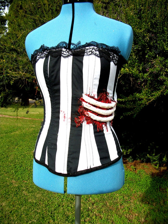 Corpse Bride Inspired Circus Corset (Steampunk) Costume