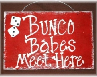 Bunco Dice Red Wood Custom Game Babes Girls Night