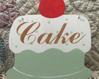 Cake Shabby Cottage Sage Green Wood Sign Custom