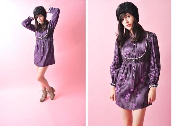 Vintage Purple One of a Kind Dress 1960s