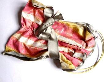 """Unique Handmade Vintage Regency Stripe Fabric Bag  - """"Incongruous"""""""