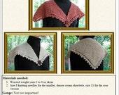 Picot edge knit shawl or collar EASY knitting pattern PDF