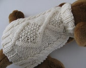 Dog sweater knitting pattern PDF Aran Diamond Back design
