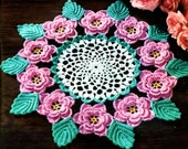 Rose Doily Irish Crochet PDF pattern 1957