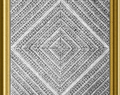 Knitted Counterpane Bedspread Patchwork design Victorian 1860 PDF pattern