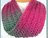 Infinity Scarf knitting pattern Knit Lace Easy for beginner lace project PDF