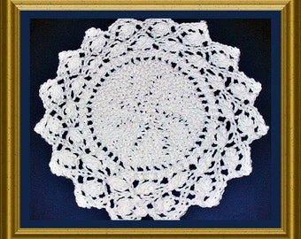 Round Ring of Leaves Dishcloth and Placemat knitting pattern PDF Easy to knit