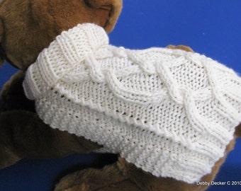 Knit Dog Sweater Knitting Pattern Zig Zag Rib Design
