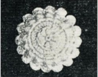 Crochet Buttons Pattern from 1944 PDF Vintage Pattern