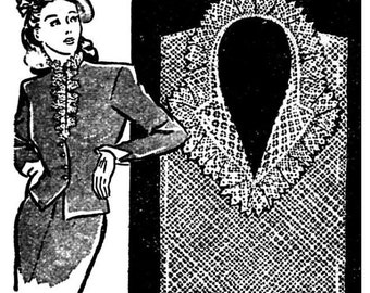 Crochet Gilet Vintage 1944 Lace Crochet pattern PDF