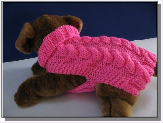 Easy To Knit Celtic Doggie Smart Cables Sweater Knitting pattern PDF
