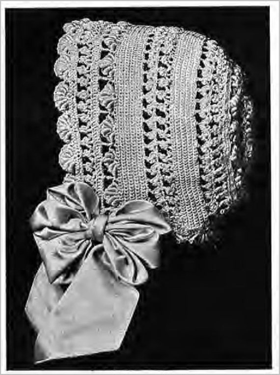 Lace Baby Bonnet PDF Vintage Crochet pattern from by ...