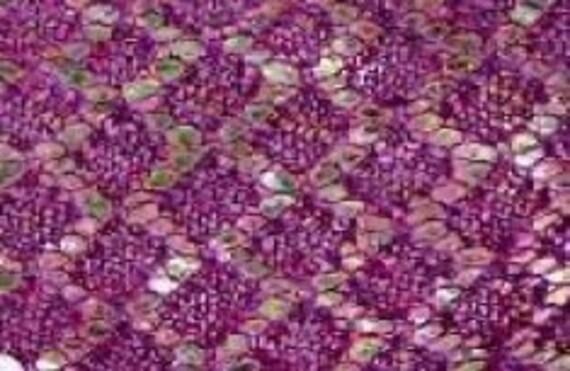Very Easy Knitting pattern Garter stitch diamond lace shawl pattern PDF