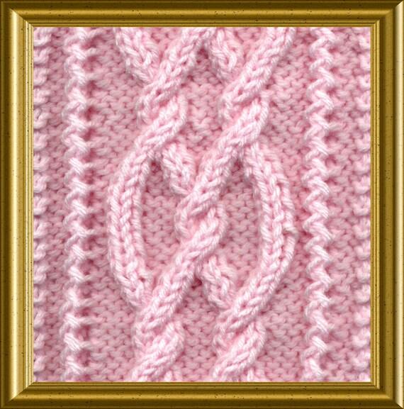 Knit Scarf Aran Cables Twist Pdf Knitting Pattern