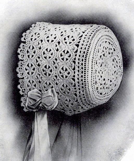 Lace Baby Bonnet Pdf Vintage Crochet Pattern Edwardian Era