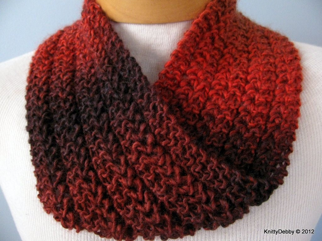 Moebius Scarf Lace Infinity Hand knit OOAK FREE SHIPPING