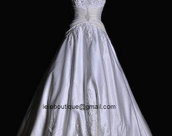 CM1046 Exquisit A-line Wedding Dress | Satin Wedding Dress | White Wedding Dress | Strapless Wedding Dress