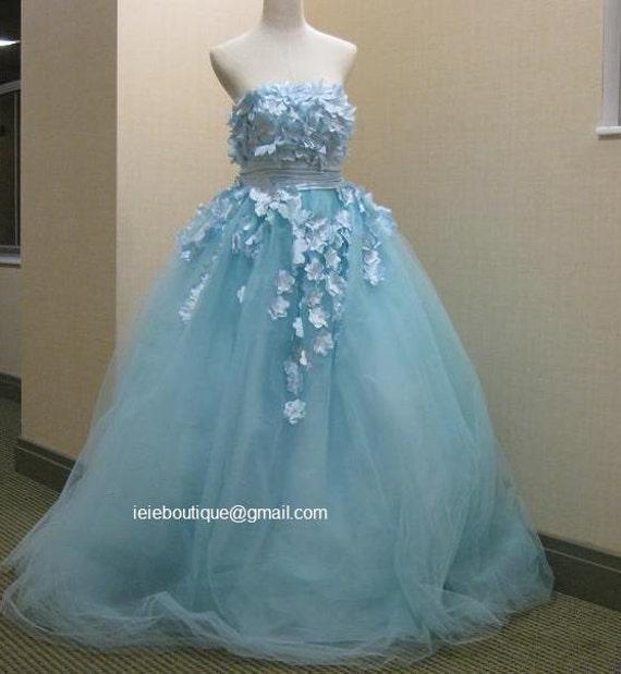 Cm1031 powder blue wedding gown reception dress for Changing wedding dress for reception