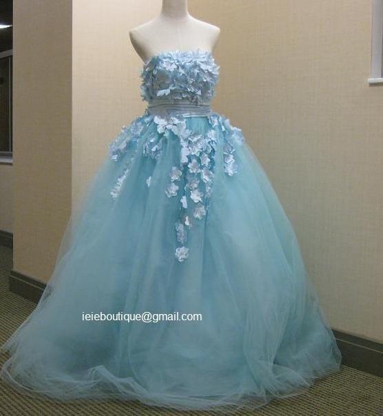 CM1031 Powder Blue Wedding Gown Reception Dress