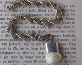 Victorian Ivory Elk Tooth Bugler Watch Fob and Chain