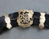 Kia Ora / Victorian 9ct Mourning Ribbon Watch Fob Bracelet