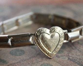 Antique Sweet Heart Expansion Bracelet for Repair