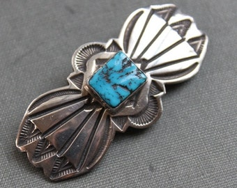 Navajo Kingman Turquoise American Indian Brooch