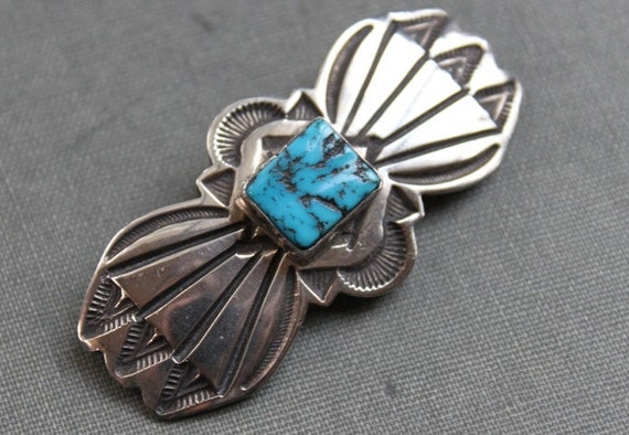 Navajo Kingman Turquoise American Indian Brooch