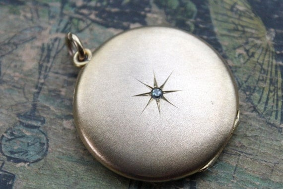 Victorian Paste Star Lovers Locket