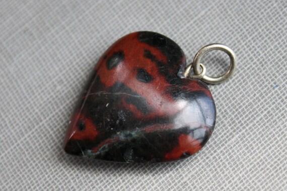 Victorian Bloodstone Heart Pendant Fob
