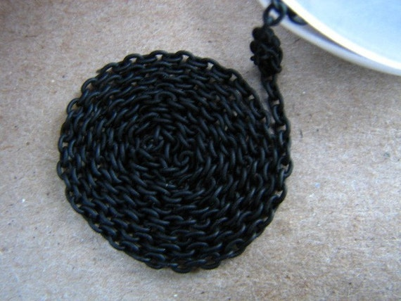 Thin Chain in Black - 2x2mm Links - 2 ft - Perfect with Beadweaving, Scrabble Tiles, Resin Pendants, Altered Art, Dichroic Glass, and More