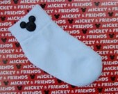 Boys Mickey Mouse Socks...Crew or Turncuff Socks with Adorable Mickey Embellishment...Perfect for Vacations or Birthdays