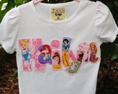 Personalized Princess Shirt by Giggle Baby Designs...Choose Your Favorite PRINCESSES